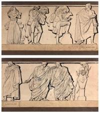 antoine de la fosse et pierre-augustin caron de beaumarchais (2 works) by pierre jean david d' angers