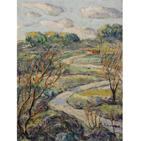 the winding road by ernest lawson