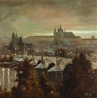 der hradschin mit der karlsbrücke by josef svoboda