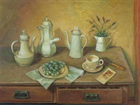 coffee pots by margaret hannah olley