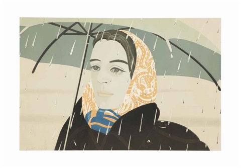 blue umbrella by alex katz