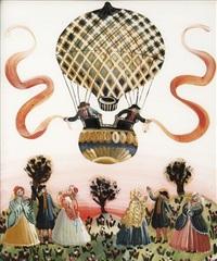 le départ de la montgolfière by suzane bartolini