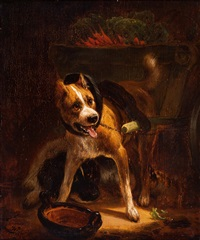 dogcart with vegetables by henriette ronner-knip