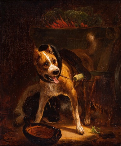 dogcart with vegetables by henriette ronner knip