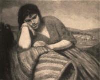 gitana en el camino by josé maria santa-marina