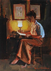 by the lamp by rowland davidson