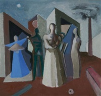 abstract figures and architectural shapes by ernest walter smith