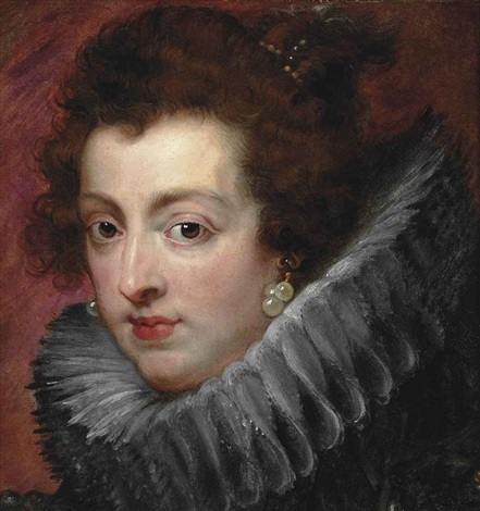 portrait of queen isabella of bourbon 1602 1644 bust length in a ruff a fragment by sir peter paul rubens