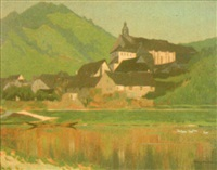 landschaft mit kloster by willy mulot