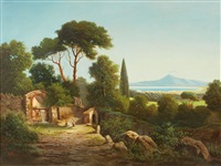 view of the gulf of naples by albert arnz