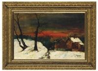 winter landscape by yuri yachenko