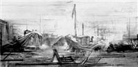 bâteaux sur la tamise, london by regis (count) de bouvier de cachard
