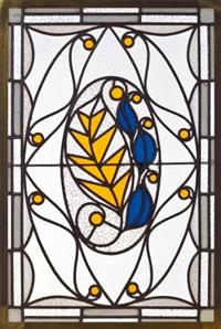 glasfenster für das gebäude in der spiegelgasse 3 in wien der firma e. bakalowits, söhne by leopold forstner