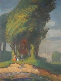 kapliczka w polu by stanislaus von korzeniewski