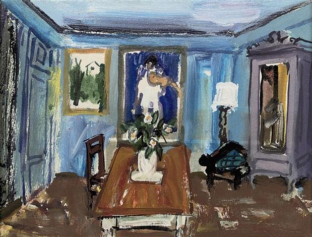 Le salon bleu by Carlos Nadal on artnet