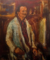 the artist in the studio by yitzhak frenkel-frenel
