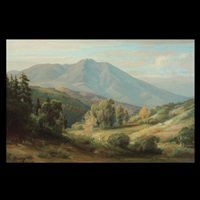 view of mt. tamalpais by oscar v. lange