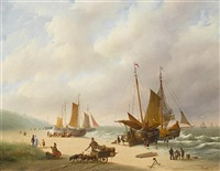 unloading the boats by h. heszler
