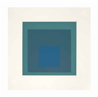 blue reminding by josef albers