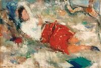 reclining woman by mordechai ardon