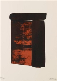 serigraphie n°12 by pierre soulages