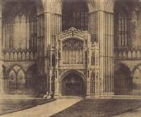 portail latéral d'une cathédrale en angleterre by henri-victor regnault