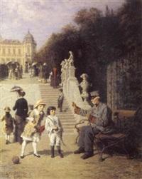 ein sonntag im belvederegarten by wilhelm leopolski