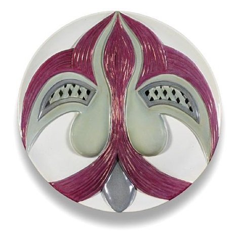 the dinner party test plate eleanor of aquitaine by judy chicago