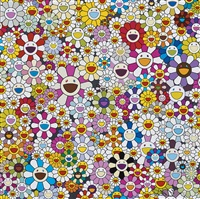 flowers blosoming in this world and the land of nirvana by takashi murakami