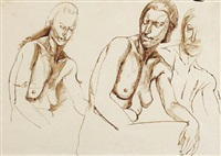 female (study) (+ another similar; 2 works) by robert colquhoun