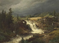 norwegian landscape by hermann herzog