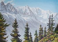 les aiguilles de chamonix et le mont blanc by jacques charles fourcy