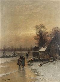 heimkehr am winterabend by johann jungblut