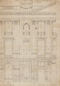 projet pour la façade des bâtiments de la concorde by ange-jacques gabriel