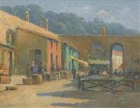 untitled (market scene) by bessie ellen davidson