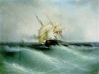 bateau dans la tempête by mo givanian