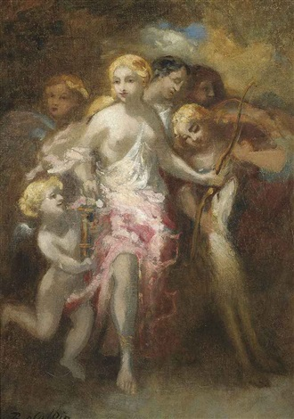 venus and an entourage of sibyls by marie abraham rosalbin de buncey