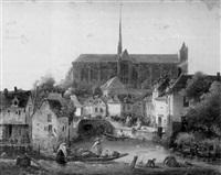 vue de la cathédrale d'amiens by charles-louis lesaint