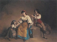 a family of entertainers by charles corbineau