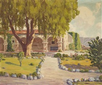 san juan capistrano mission gardens by charles l.a. smith