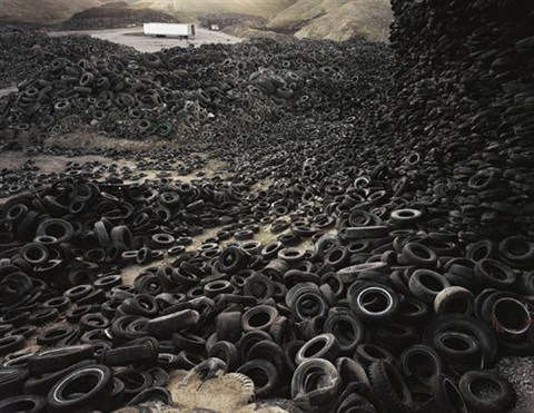 oxford tire pile no 1 westley california by edward burtynsky