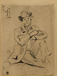 guillaumin au pendu (seated man) by paul cézanne