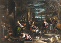 the supper at emmaus by bassano family