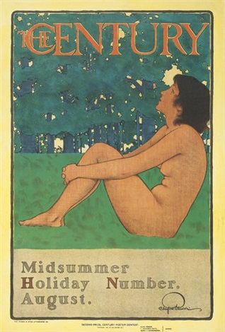 the century/midsummer holiday number/august by maxfield parrish