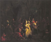 the prodigal son feasting with harlots by maximilian blommaerdt
