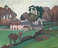 clayhidon church by robert polhill bevan