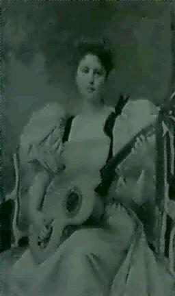 jeune femme à la guitare by jules charles aviat