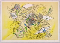 color lithograph by roberto matta