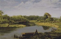 fishing by the pond by robert e. arnold