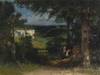 femme dans un hamac by gustave courbet